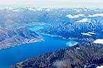 Aerial view of Lake Hawea