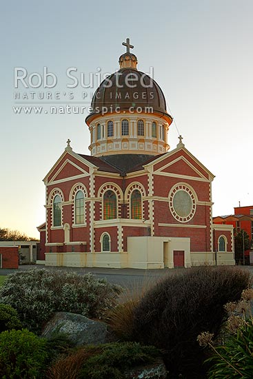 St. Mary's Basilica Catholic Church, Invercargill, built in 1905 and designed by Francis Petre. Saint Mary's Church, Invercargill, Invercargill District, Southland Region, New Zealand (NZ) stock photo.