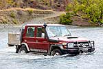 River crossing with four wheel drive
