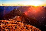 Sunset in Fiordland