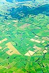 Aerial of farmland, Heriot, Southland