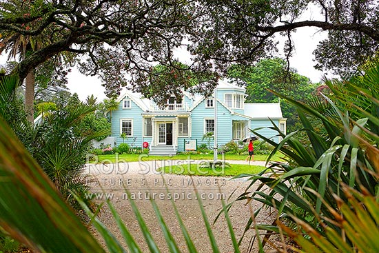 Historic Couldrey House built by Sir Robert Graham from 1857 onwards, now in Wenderholm Regional Park, north of Auckland, Waiwera, Rodney District, Auckland Region, New Zealand (NZ), stock photo.Historic Couldrey House built by Sir Robert Graham from 1857 onwards, now in Wenderholm Regional Park, north of Auckland, Waiwera, Rodney District, Auckland Region, New Zealand (NZ) Stock PhotoHistoric Couldrey House built by Sir Robert Graham from 1857 onwards, now in Wenderholm Regional Park, north of Auckland, Waiwera, Rodney District, Auckland Region, New Zealand (NZ)