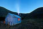 Molesworth Station hut, moonrise