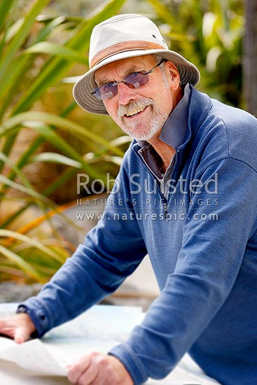 Steve Bagley, Department of Conservation Historic Heritage advisor, New Zealand (NZ) stock photo.