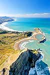 Castlepoint aerial, Wairarapa