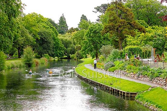 Avon River Running Through The Christchurch Botanical
