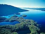 Lake Te Anau aerial view