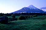 Farmland and Mount Taranaki
