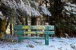 Abel Tasman N.P. sign in snow