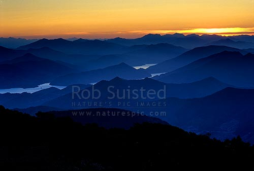 Sunset over the Marlborough Sounds