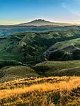 Mt Ruapheu and farmland, Ohakune