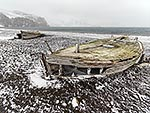 Old boats, Deception Is, Antarctica