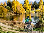 Mountain biker, Albert Town, Wanaka