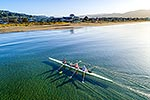 Petone Beach rowers, Hutt Valley, aerial