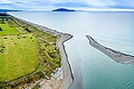Otaki River Mouth and Kapiti Island