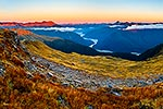 Panorama of Haast River Valley