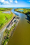 Patea River and old freezing works, Taranaki