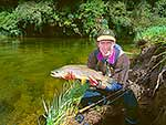 Trout fisher, South Westland