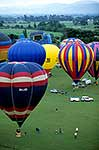 Hot air balloons ascent Carterton
